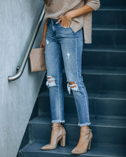 Maxwell High Rise Distressed Denim view 6
