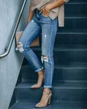 Maxwell High Rise Distressed Denim view 10
