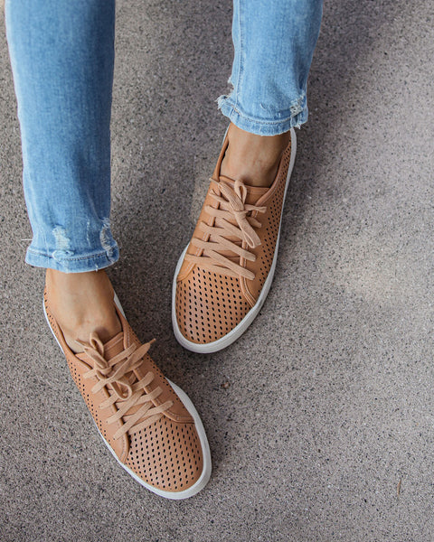 Montecito Faux Leather Perforated Sneakers