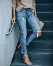 Maxwell High Rise Distressed Denim view 3