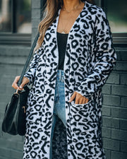 Can't Touch This Pocketed Leopard Duster Cardigan
