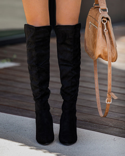 Said And Done Faux Suede Heeled Boot