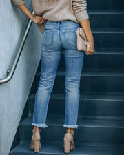 Maxwell High Rise Distressed Denim view 2