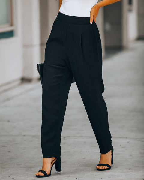 Meadow Fresh Pocketed Pants - Black