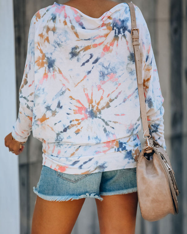 Slouchy Tie Dye Knit Top - FINAL SALE