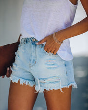 Taffy High Rise Distressed Denim Shorts - FINAL SALE