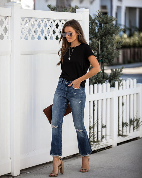 Karla High Rise Crop Flare Denim - FINAL SALE