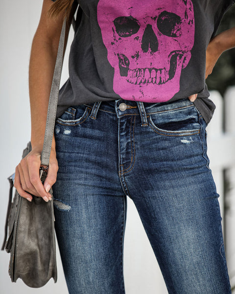 Whiplash Mid Rise Distressed Skinny - FINAL SALE