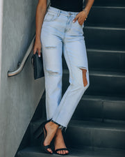 Colin High Rise Distressed Denim