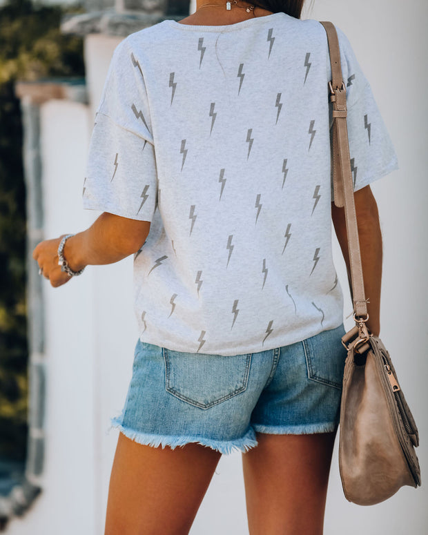 Lightning In A Bottle Cotton Short Sleeve Knit Top