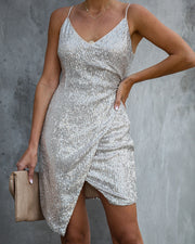Double Or Nothing Sequin Mini Dress  - FINAL SALE
