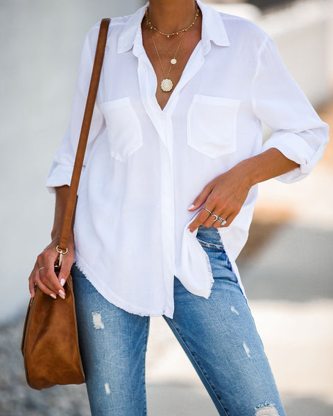 Have A Vision Button Down Top - White