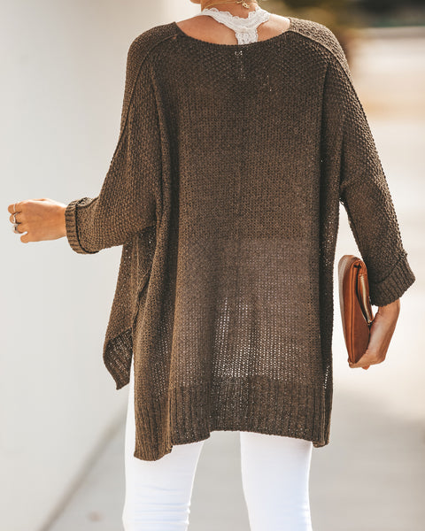 Laid Back Knit Sweater - Olive