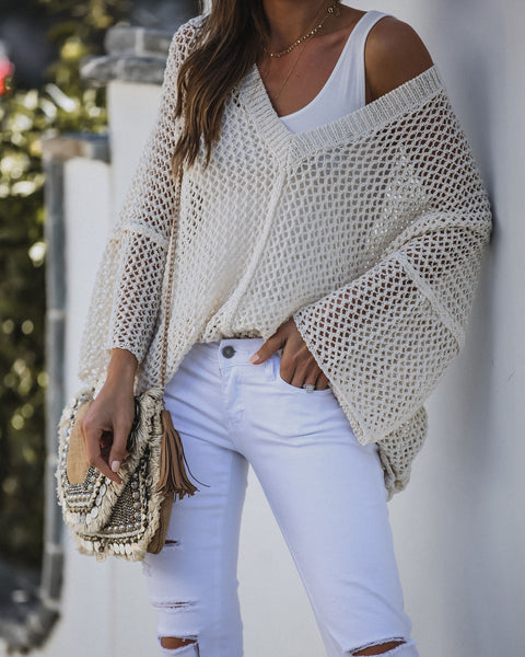 Vinyasa V-Neck Knit Sweater