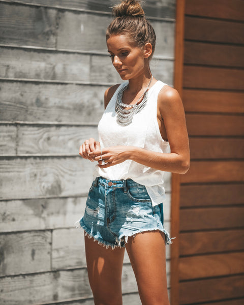 Festival Cut Off Denim Shorts