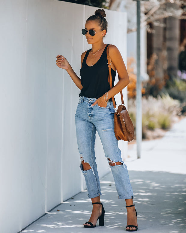Kip High Rise Distressed Boyfriend Denim - FINAL SALE
