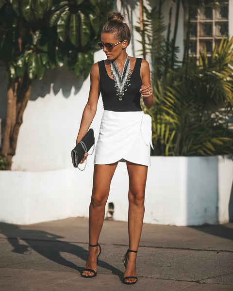 Baldwin Mini Wrap Skirt - Off White