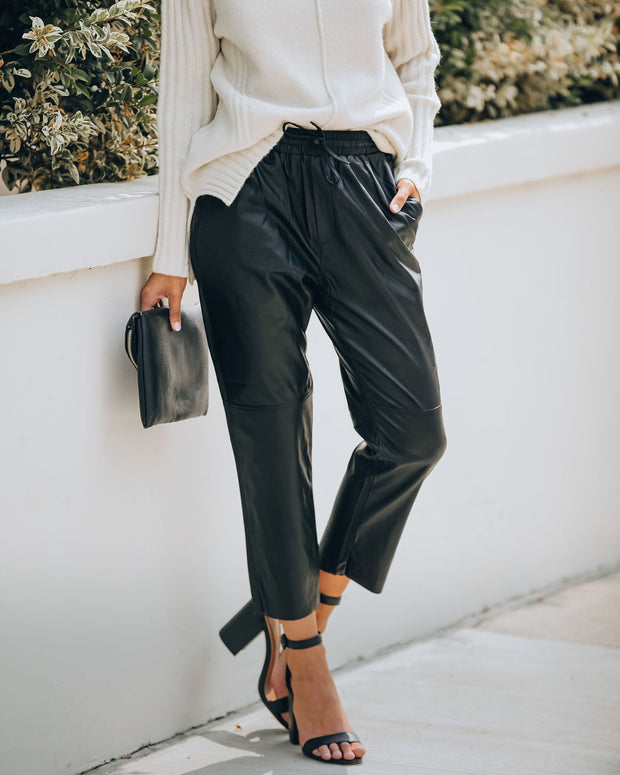 Live Out Loud Pocketed Faux Leather Pants