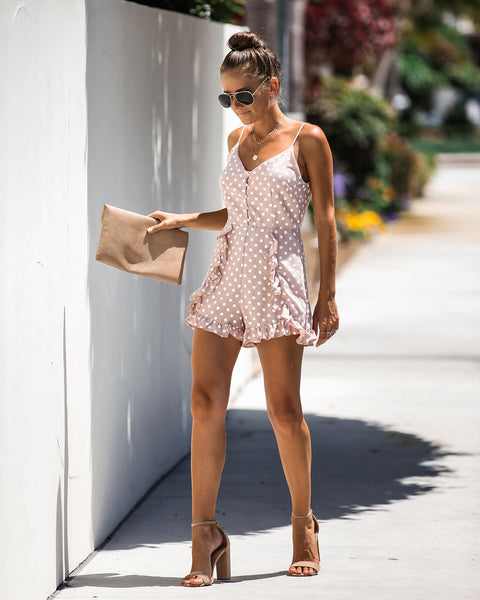Go Dotty Ruffle Romper - FINAL SALE