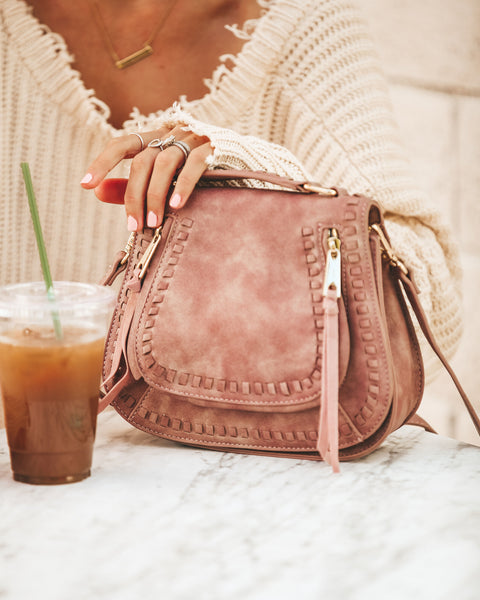Khloe Crossbody Bag - Antique Pink