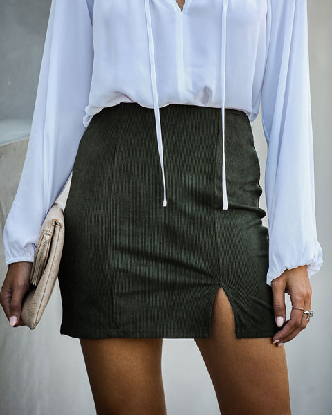 Denver Corduroy Mini Skirt