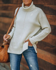 Snow Globe Turtleneck Knit Sweater