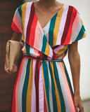 Merry Go Round Wrap Maxi Dress - FINAL SALE