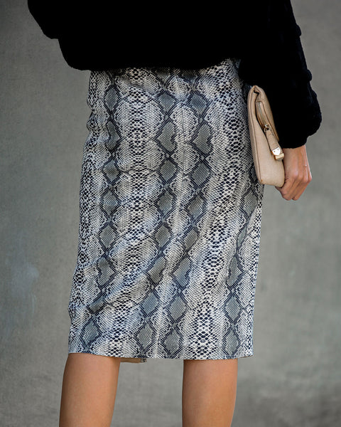 Dare To Wear Python Pencil Skirt - FINAL SALE