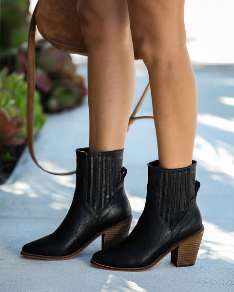 Mankind Faux Leather Heeled Bootie - FINAL SALE