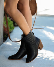 Mankind Faux Leather Heeled Bootie - FINAL SALE view 8