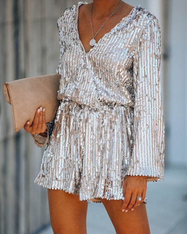 Best On Earth Sequin Romper