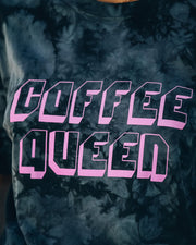 Tie Dye Coffee Queen Cotton Tee