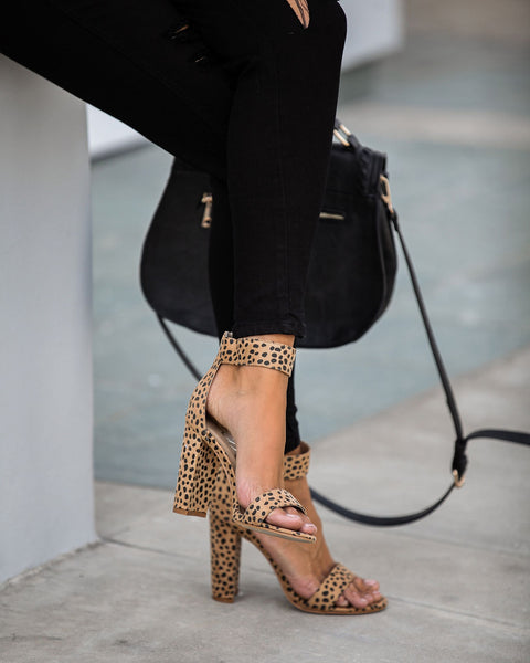 Catch You Later Cheetah Heels