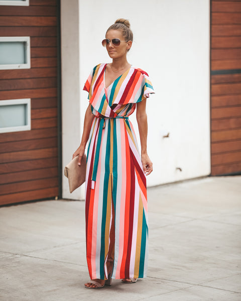 Merry Go Round Wrap Maxi Dress