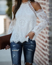 Going To The Chapel Lace Blouse - Ivory