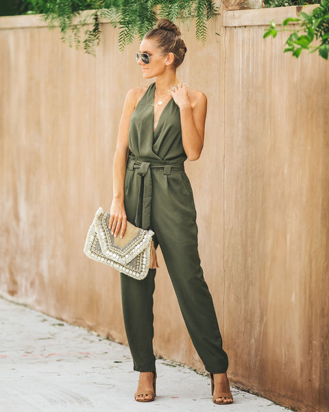Out On A Limb Pocketed Jumpsuit - FINAL SALE