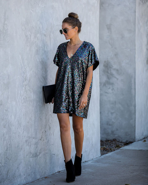 Disco Dream Sequin Shift Dress - FINAL SALE