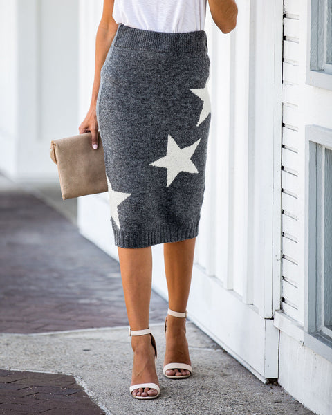 Light The Way Soft Knit Midi Skirt - FINAL SALE