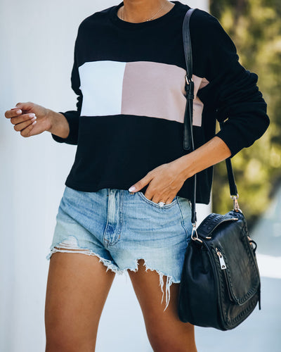 Step By Step Lightweight Colorblock Sweatshirt