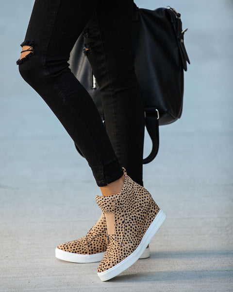 Extra Mile Wedge Sneaker - Cheetah