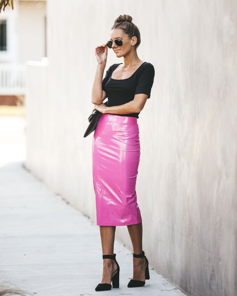 Material Girl Liquid Pencil Skirt