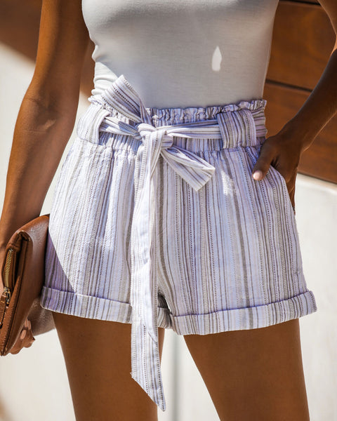 Mule Mountains Linen Blend Pocketed Tie Shorts - FINAL SALE