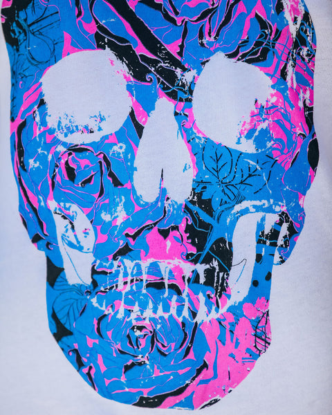 Blow Your Mind Cotton Blend Skull Tee