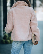 Rosy Cheeks Pocketed Fleece Coat
