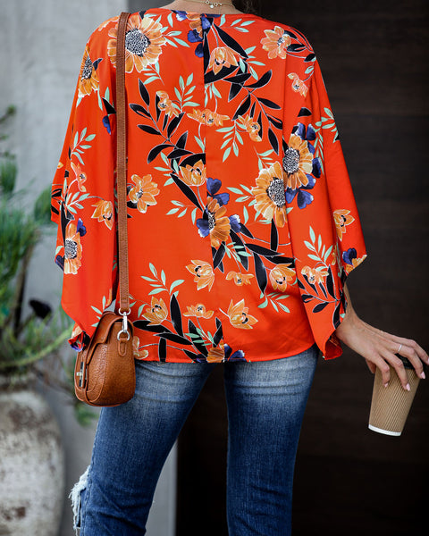 Dandy Satin Button Down Kimono Top - FINAL SALE