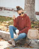Greatest Discovery Distressed Knit Sweater - Ginger