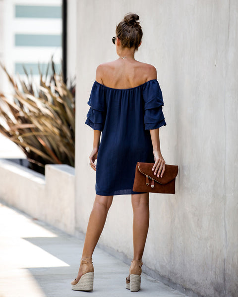Hot Summer Nights Off The Shoulder Ruffle Dress