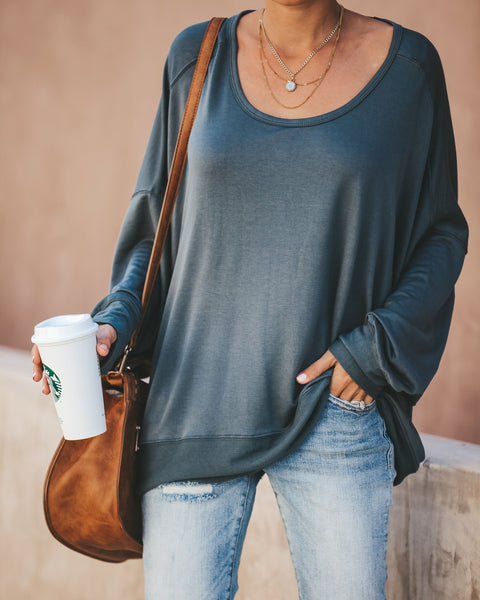 In The Night Open Back Knit Top - Dark Teal