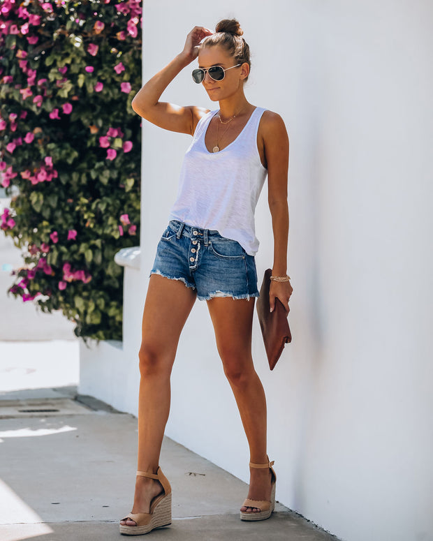 Zander Mid Rise Distressed Denim Shorts - FINAL SALE