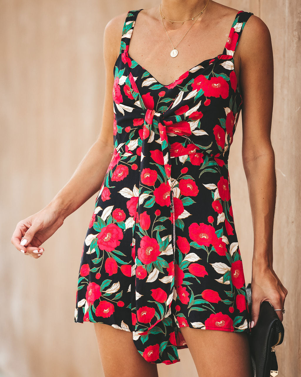 9271c4143b4 A Rose By Any Other Name Tie Romper - FINAL SALE – VICI